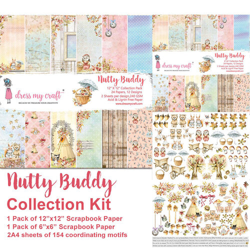 Dress My Craft - Nutty Buddy Collection - Collection Kit