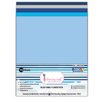 Dress My Craft - A4 Cardstock - Blue Family - 10 Pack