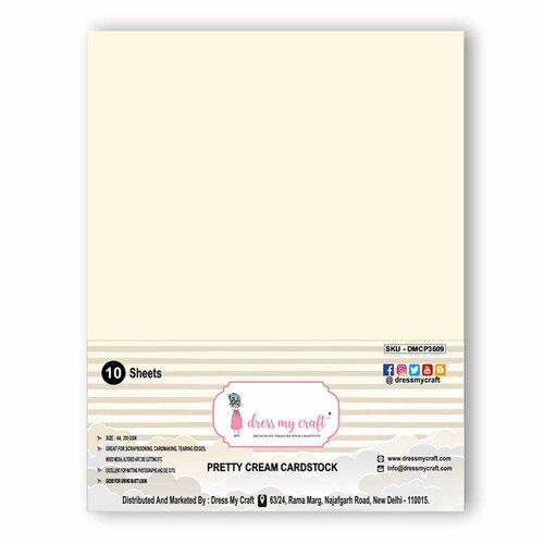 Dress My Craft - A4 Cardstock - Pretty Cream - 10 Pack