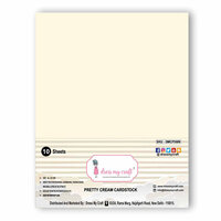 Dress My Craft - A4 Cardstock - Pretty Cream - 10 Pack
