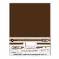 Dress My Craft - A4 Cardstock - Chocolate Brown - 10 Pack