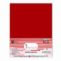 Dress My Craft - A4 Cardstock - Rich Red - 10 Pack