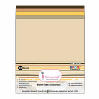 Dress My Craft - A4 Cardstock - Brown Family - 10 Pack