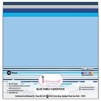Dress My Craft - 12 x 12 Cardstock - Blue Family - 10 Pack