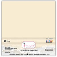 Dress My Craft - 12 x 12 Cardstock - Pretty Cream - 10 Pack
