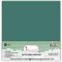 Dress My Craft - 12 x 12 Cardstock - Bottle Green - 10 Pack