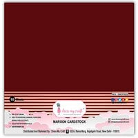 Dress My Craft - 12 x 12 Cardstock - Maroon - 10 Pack
