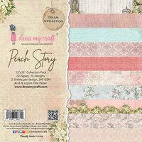 Dress My Craft - 12 x 12 Paper Pad - Peach Story