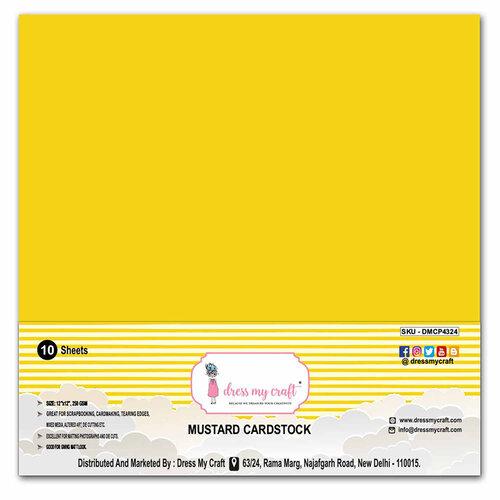 Dress My Craft - 12 x 12 Cardstock - Mustard Cardstock - 10 Pack