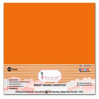 Dress My Craft - 12 x 12 Cardstock - Bright Orange Cardstock - 10 Pack