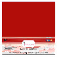 Dress My Craft - 12 x 12 Cardstock - Classic Red Cardstock - 10 Pack