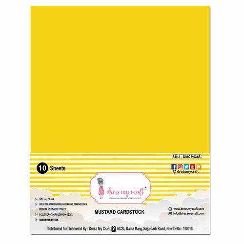Dress My Craft - A4 Cardstock - Mustard Cardstock - 10 Pack