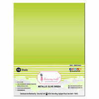 Dress My Craft - A4 Cardstock - Metallic Olive Green - 10 Sheets