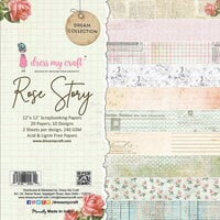 Dress My Craft - Dream Collection - 12 x 12 Paper Pad - Rose Story