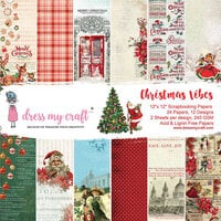 Dress My Craft - Christmas Vibes Collection - 12 x 12 Paper Pad