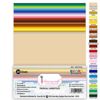 Dress My Craft - A4 Cardstock - Tropical - 20 Pack