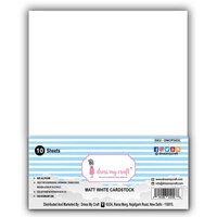 Dress My Craft - A4 Cardstock - Matte White - 10 Pack