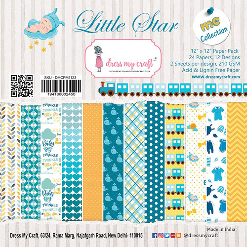 Dress My Craft - Little Star Collection - 12 x 12 Paper Pad