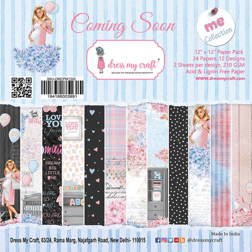 Dress My Craft - 12 x 12 Paper Pad - Coming Soon