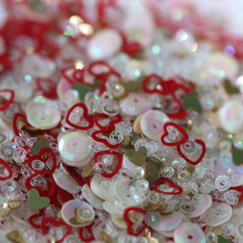 Dress My Craft - Sequins - Red Hearts