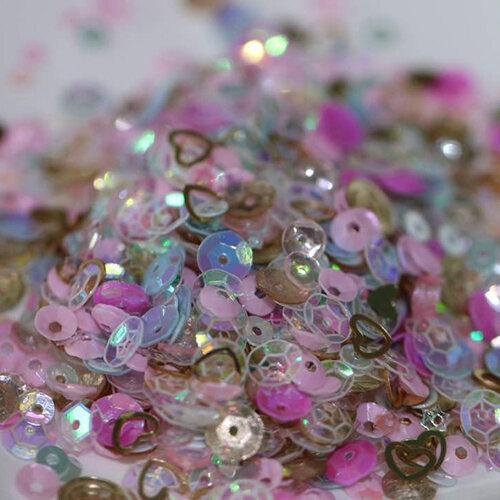 Dress My Craft - Sequins - Pink Celebration