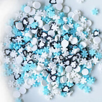 Dress My Craft - Shaker Elements - Penguins and Snowflakes Mix