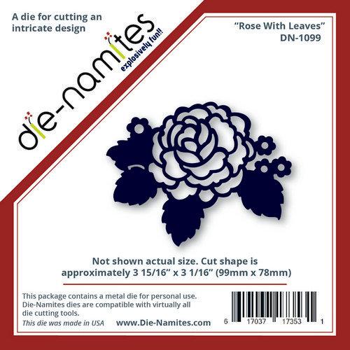 Die-Namites - Die - Rose with Leaves