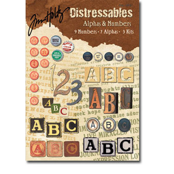 Design Originals - Tim Holtz - Distressables - Alphas and Numbers