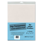 Design Originals - 8.5x11 Sheets for Inkjet Printers - Digi-Transparency - Clear Adhesive Film - 6 Sheets