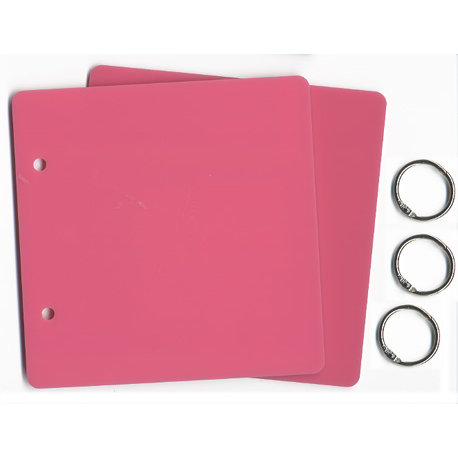 D Reeves Design House - Pink Acrylic 2 Ring Album - 6x6, CLEARANCE