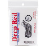 Deep Red Stamps - Cling Mounted Rubber Stamp - Motorcycle