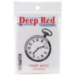 Deep Red Stamps - Cling Mounted Rubber Stamp - Pocket Watch