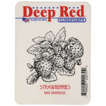 Deep Red Stamps - Cling Mounted Rubber Stamp - Strawberries