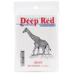 Deep Red Stamps - Cling Mounted Rubber Stamp - Giraffe