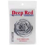Deep Red Stamps - Cling Mounted Rubber Stamp - Rose Engraving