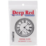 Deep Red Stamps - Cling Mounted Rubber Stamp - Roman Clock