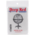 Deep Red Stamps - Cling Mounted Rubber Stamp - Antique Globe