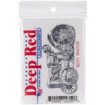 Deep Red Stamps - Cling Mounted Rubber Stamp - Rusty Tractor