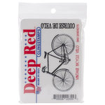 Deep Red Stamps - Cling Mounted Rubber Stamp - Vintage Bicycle Velo