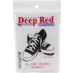 Deep Red Stamps - Cling Mounted Rubber Stamp - All Star Sneakers