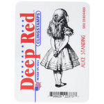Deep Red Stamps - Cling Mounted Rubber Stamp - Alice Standing
