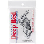 Deep Red Stamps - Cling Mounted Rubber Stamp - White Rabbit Late