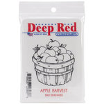 Deep Red Stamps - Cling Mounted Rubber Stamp - Apple Harvest