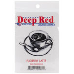Deep Red Stamps - Cling Mounted Rubber Stamp - Flourish Latte