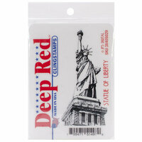 Deep Red Stamps - Cling Mounted Rubber Stamp - Statue of Liberty