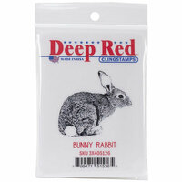 Deep Red Stamps - Cling Mounted Rubber Stamp - Bunny Rabbit