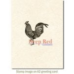 Deep Red Stamps - Cling Mounted Rubber Stamp - Rooster