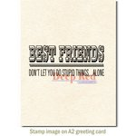 Deep Red Stamps - Cling Mounted Rubber Stamp - Best Friends Headline