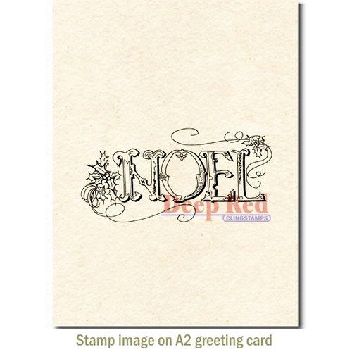 foto de Deep Red Stamps Vintage Noel Stamp
