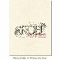 Deep Red Stamps - Christmas - Cling Mounted Rubber Stamp - Vintage Noel